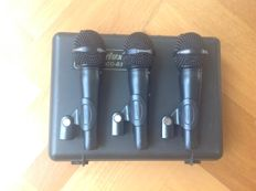 Set of 3 Professional Dynamic Vocal Microphones