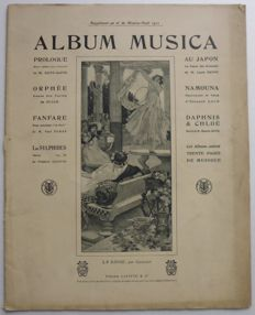 Lot of 9 ALBUM MUSICA issues with over 60 pages of sheet music for piano