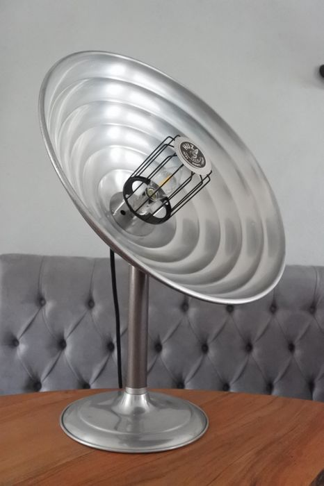 Huza lamp - upcycled German heat lamp, mid 20th century / table lamp