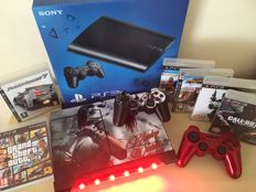 SONY PS3 Console Harley Quinn with Light Bar  + 2 Wireless Controllers + 6 Massive Games inc Grand Theft Auto V