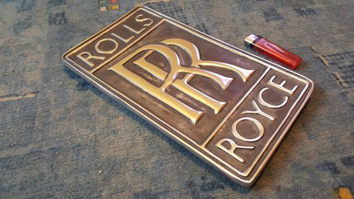 Rolls Royce  Plate emblem badge Workshop /  garage