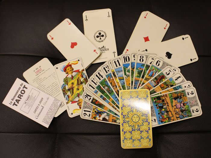 French TAROT original HERMÉS Hermes cards, in new condition
