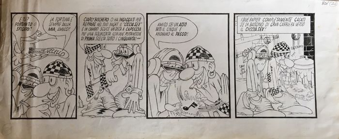 Rap #21 - Jacovitti - original strip - Loose page - First edition - (1995)