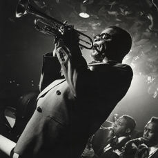 Herman Leonard (1923-2010) - Dizzy Gillespie, Performing Live at the Royal Roost, 1948