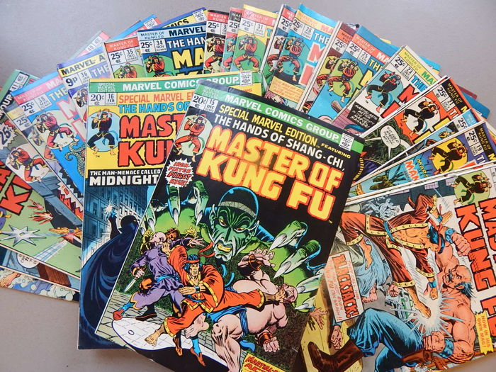 Marvel Comics - Master of kung-Fu #15 to 125 - 111x sc - (1973-1983)