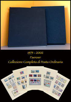 Faroe Islands, 1975-2002 - Complete collection of Ordinary Mail mounted in an album with a dust jacket and SAFE pages.