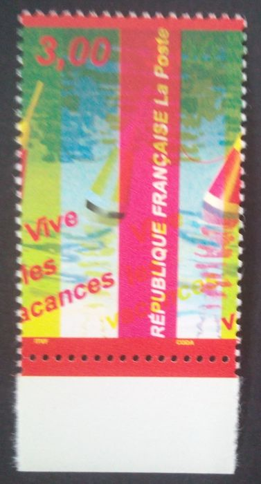 France 1999 - Yellow color and horseback stitching offset - Maury 3225b