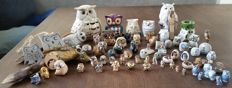 Large collection of 75 owls