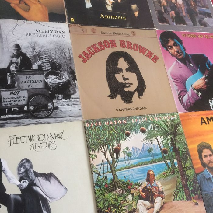 Lot of 11 (double) albums: Folk Rock - Steely Dan, Ry Cooder, Jackson Browne, Fleetwood Mac, America and more