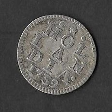 Holland – Duit 1739 – minted in silver