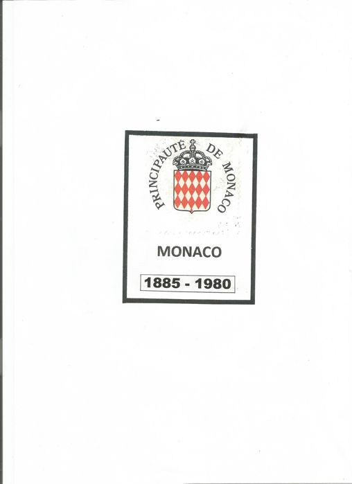 Monaco 1885/1980 - Collection in an original personal album