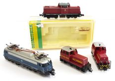 Minitrix N - 2048/2930 - Diesel locomotive, Electric locomotive - Includes two dummies - DB