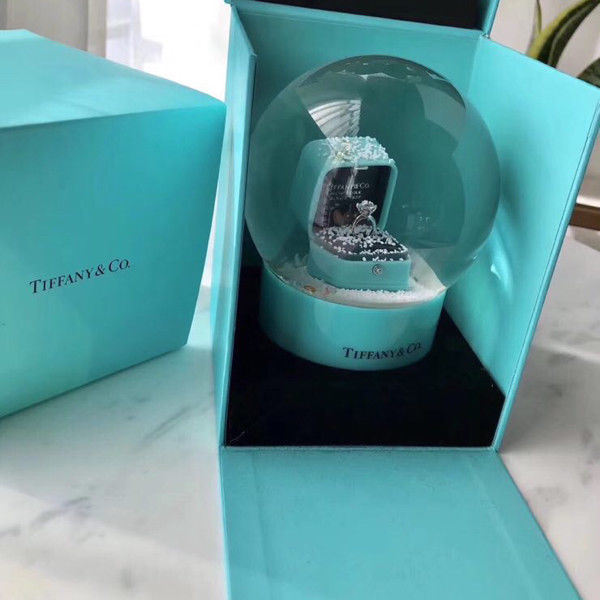Snow globe - Tiffany&Co proposal ring Christmas - Glass
