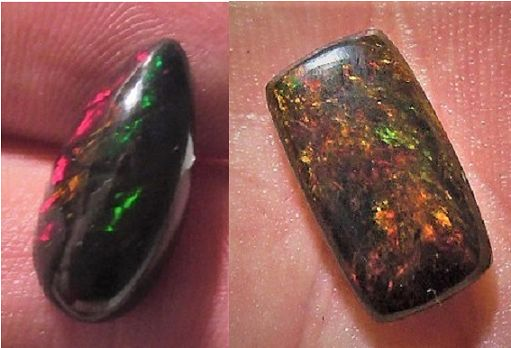 Lot Beautiful Untreated Solid Black Welo opal Cabochons-7.42ct (2)