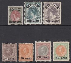 Suriname 1900 - Aid issue - NVPH 34/36 + 37/40