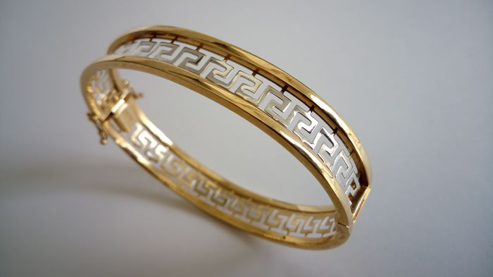 Bracelet made of two-tone 18 kt gold