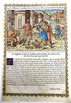 Jean Le Clerc (1587/88-1633) - 2 handcol woodcuts - Jacob Goes to Egypt; Famine - 1614