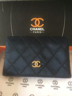 Chanel - Wallet, silk and calfleather