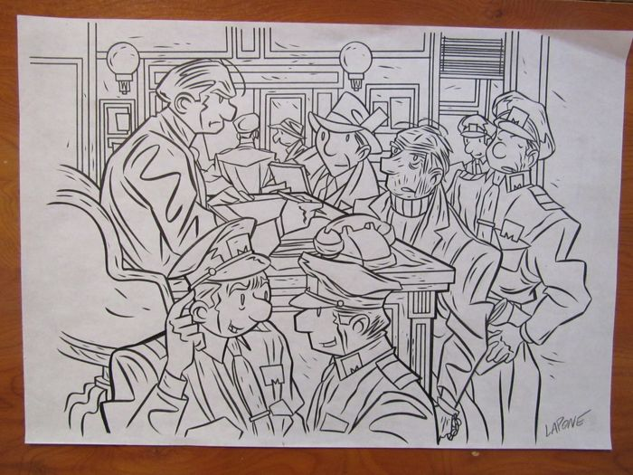 "Lapone Antonio - Original Illustration - ""Antique Detective Agency (A.D.A.)"""
