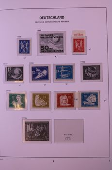 GDR 1949/1970 - Almost complete collection without blocks in Davo standard album