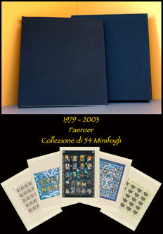 Faroe Islands, 1979-2003 - Complete collection of Ordinary Mail mounted in an album with a dust jacket and SAFE pages.