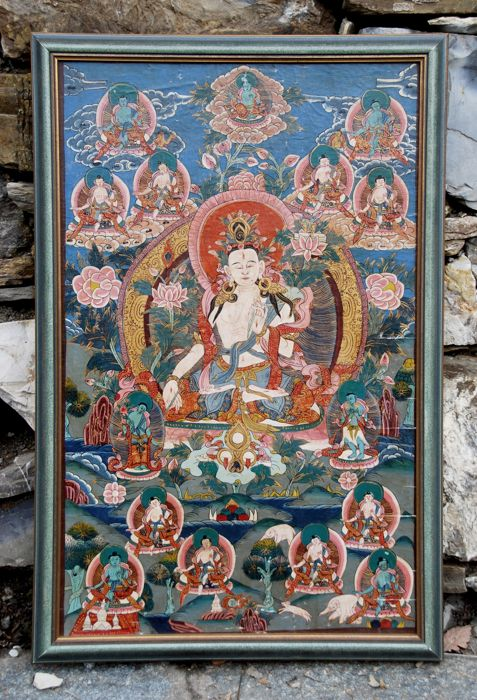 Thangka of White Tara - China/Tibet - Second half 20th Century