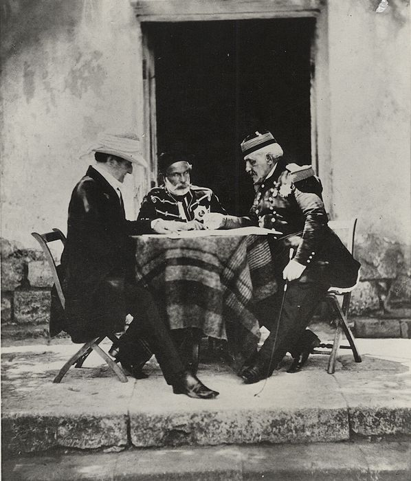 Roger Fenton (1819-1869) - The Council of War, 1855