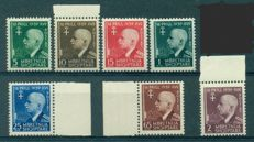 Italy, Military Occupations 1932–1946 - Lot of 9 complete series (1 in blocks of four) + 2 pairs