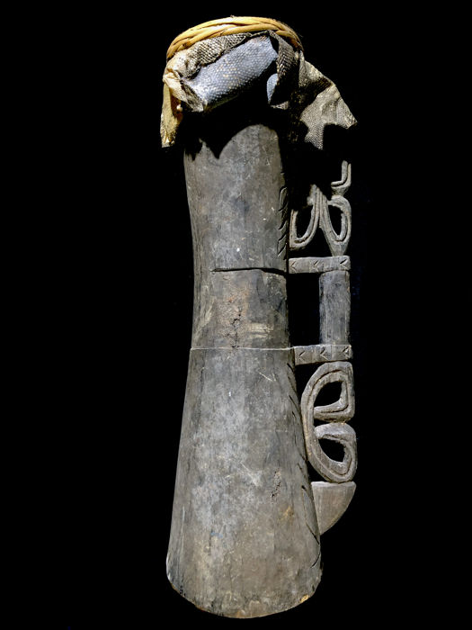 old ASMAT DRUM - COASTAL ASMAT - Papua (New-Guinea)
