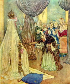 Edmund Dulac - Sir Arthur Quiller Couch -  The Sleeping Beauty and other Fairy Tales - 1938