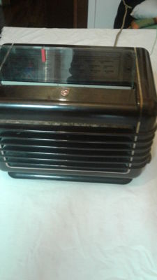 Philips valve radio model 209 U- 5 - bedside item from 1940-1950 - perfect and working