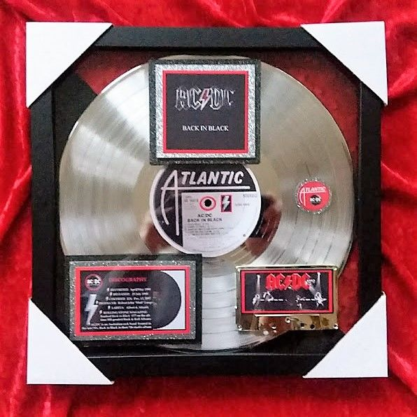 AC/DC - Back in Black Platinum (22x certified by RIAA Original Award)