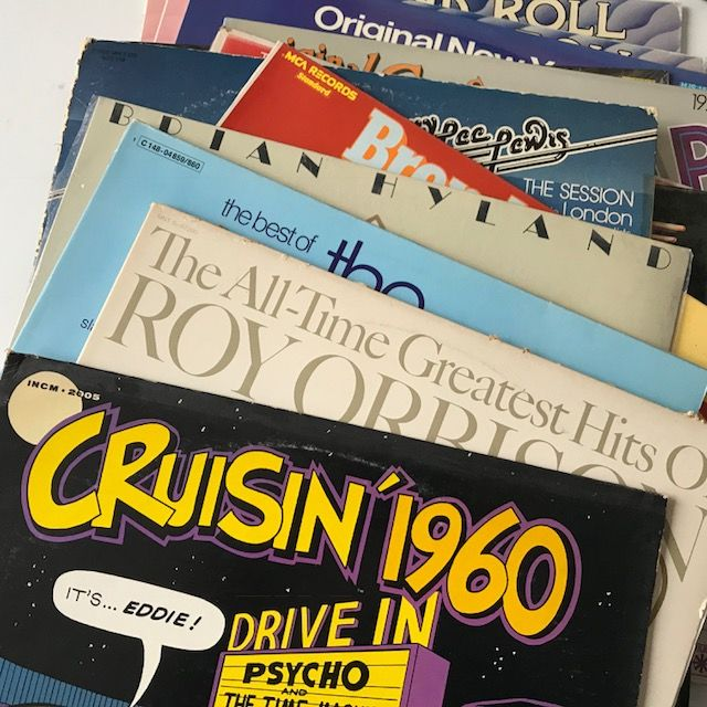 Brenda Lee, Jerry Lee Lewis, Brian Hyland - lot of 13 Rock'n'Roll LPs incl. Cruisin 1960