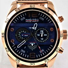 "Nautec No Limit NNL - ""Addendum GP"" Dual Time - ADDM-GDM-ALGDGD-BL - New Collection - Never Worn - Men - 2018"