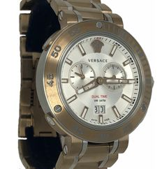 Versace - V-Extreme Pro 46 mm Dual Time Bronze EXTRA Bezel - VCN050017 - Herre - NEW