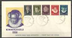The Netherlands 1956 - FDC child relief stamps - NVPH E28, with befund