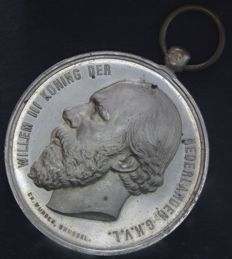 Commemorative medal - Festival Helmond Willem III 1885 (by C.H. Wurden) - Silver plated