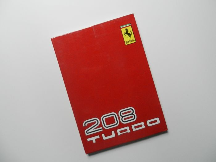 ferrari 208 turbo instruction owners manual catawiki rh auction catawiki com Ferrari Parts Manuals 2012 Ferrari FF Parts Manuals