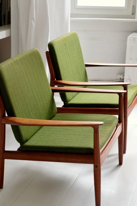 Grete Jalk for Glostrup – Set van 2 Easy Chairs
