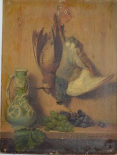 Sydney S Morrish (Act. 1852-1894) - Still life of dead game