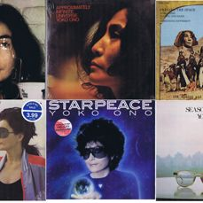 YOKO ONO: - Collection of 8 original LP's: Fly (2LP's), Approximately Infinite Universe (2 LP's), It's Alright, Starpeace, Feeling The Space, Season Of Glass. | Some with John Lennon