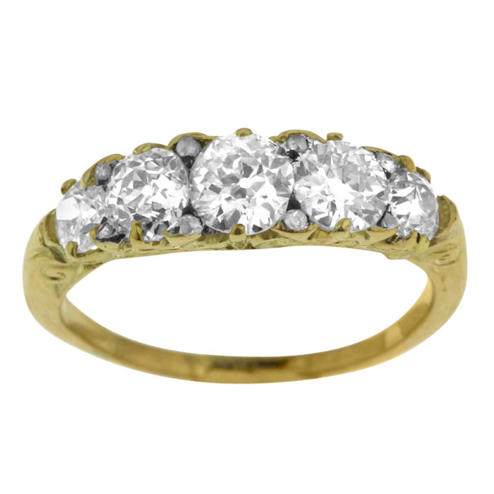 2.08ct Antique Diamond ring.