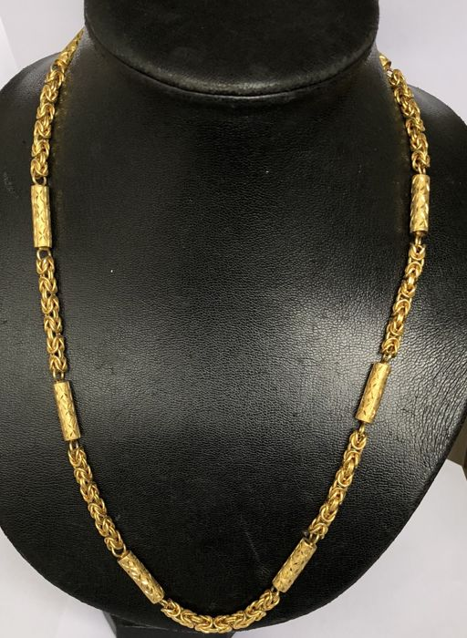 Nice Antique 18k Gold Chain Milor Italy Byzantine Link Lobster Clasp
