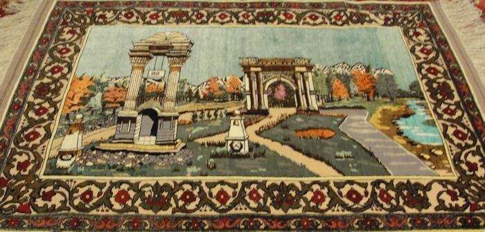 Authentic Afghan Pictorial rug. 148 cm X 117 cm