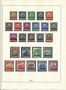 German occupation issues World War - 1939-1945 - collection with Generalgouvernement, Bohemia & Moravia, and others