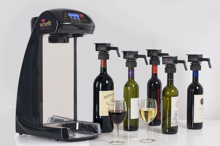 "Wine Dispenser ""Winefit One"" with 24 Special Caps"