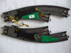 Märklin H0 - 24671/-672/74460/-90/-70 - Tracks - Curved C-rail Exchange with decoder, drive and Lantern