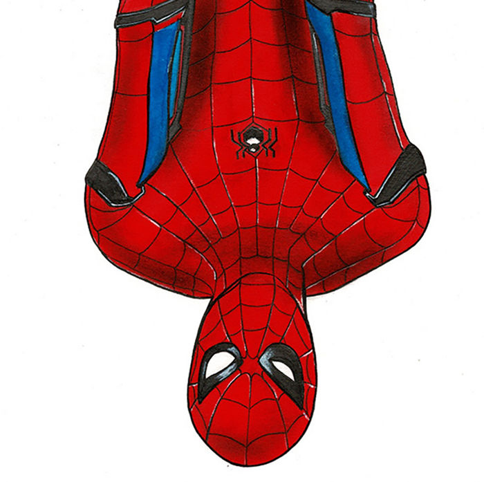 Septiembre Diego Original Drawing Spiderman Homecoming