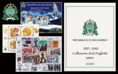 San Marino 1937/2010 - Collection of 62 themed sheets