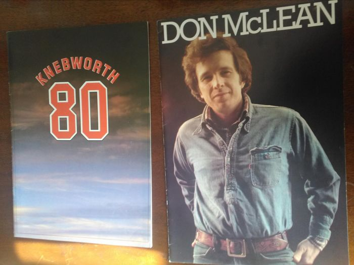 Knebworth 80 programme and Don McLean tour programme 1978